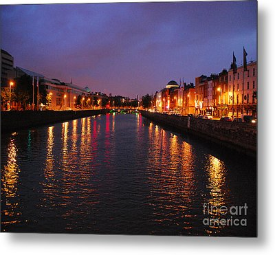 Dublin Nights Metal Print by Mary Carol Story