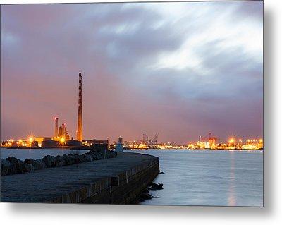 Dublin Port At Night Metal Print