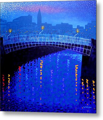 Dublin Starry Nights Metal Print