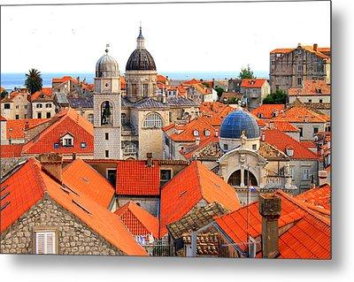Dubrovnik Rooftops Metal Print by Saya Studios