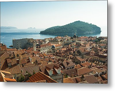 Dubrovnik View To The Sea Metal Print by Phyllis Peterson