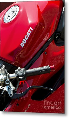 Ducati Red Metal Print by Tim Gainey