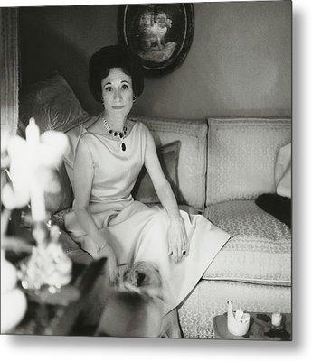 Duchess Of Windsor In Her Paris Home Metal Print