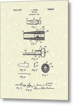 Duck Call 1951 Patent Art Metal Print by Prior Art Design