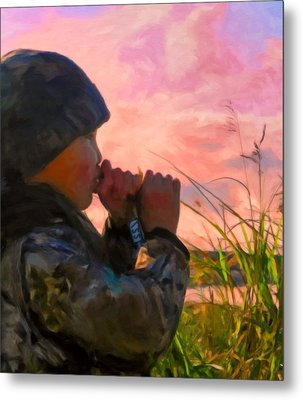 Duck Call Metal Print