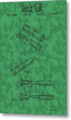 Duck Commander Duck Call Patent Metal Print