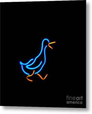 Duck Room Mascot Metal Print by Kelly Awad