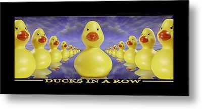 Ducks In A Row Metal Print by Mike McGlothlen