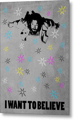 Dude I Want To Believe 3 Metal Print by Filippo B