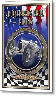 Duesenberg Bros. Racing Metal Print
