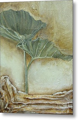 Metal Print featuring the mixed media Duet In Green by Delona Seserman