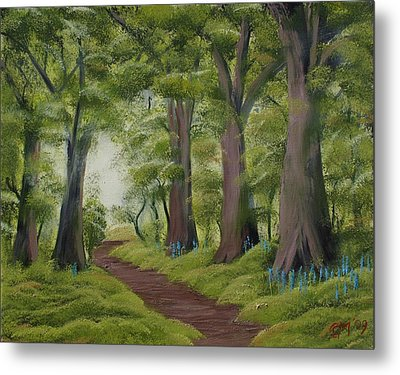 Metal Print featuring the painting Duff House Walk by Charles and Melisa Morrison