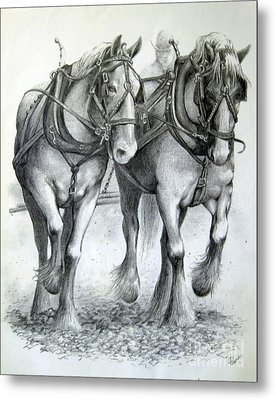 Duke And Molly Metal Print