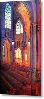 Duke Chapel Interior Metal Print