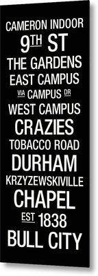 Duke College Town Wall Art Metal Print by Replay Photos