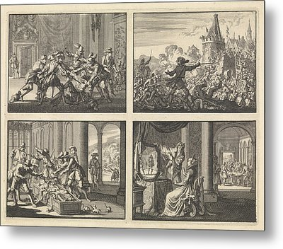 Duke Of Guise Murdered In The Castle At Blois, 1588 Metal Print by Quint Lox