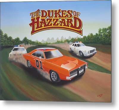 Dukes Of Hazzard Chase Metal Print by Gregory Murray