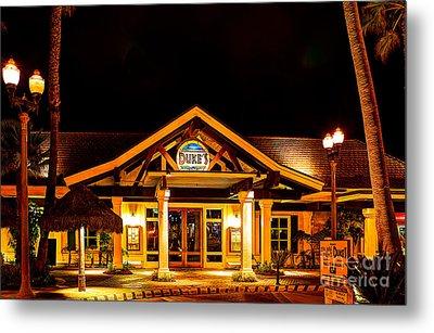 Duke's Restaurant Front - Huntington Beach Metal Print by Jim Carrell