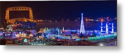 Duluth Christmas Lights Metal Print