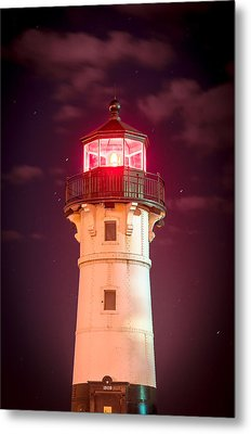Metal Print featuring the photograph Duluth North Breakwater Lighthouse by Mark David Zahn