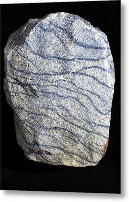 Dumortierite Veins In Quartzite Metal Print by Dirk Wiersma