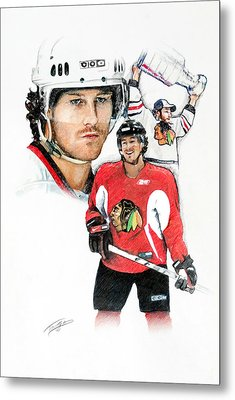 Duncan Keith Metal Print by Jerry Tibstra