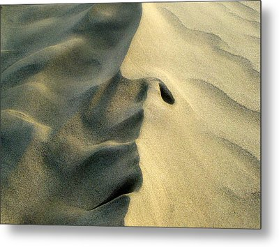 Sleeping Dune Face Metal Print