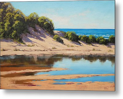 Dune Reflections Metal Print