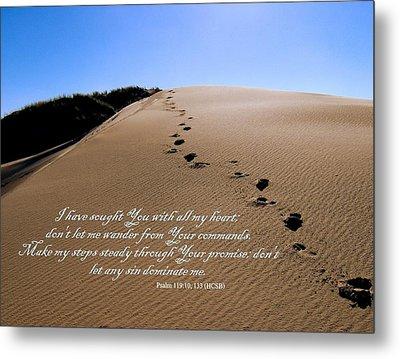 Dune Walk W/scripture 2 Metal Print