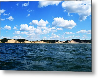 Dunes And Lake Michigan Metal Print by Michelle Calkins