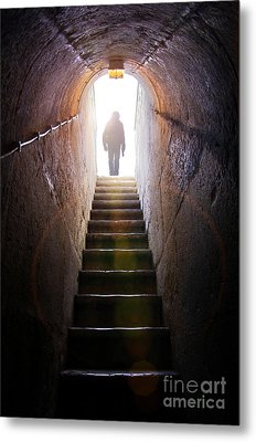 Dungeon Exit Metal Print by Carlos Caetano