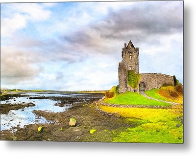 Dunguaire Castle In County Galway Ireland Metal Print by Mark E Tisdale