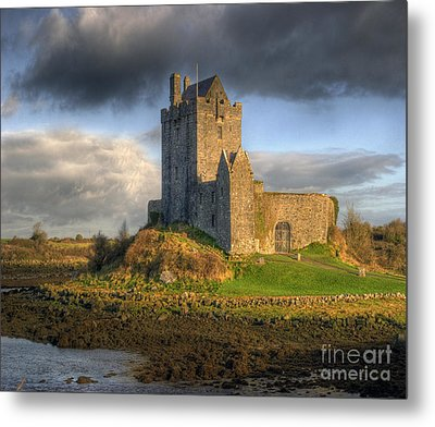 Dunguaire Castle With Dramatic Sky Kinvara Galway Ireland Metal Print