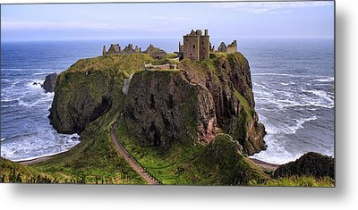 Dunnottar Castle Panorama Metal Print by Jason Politte