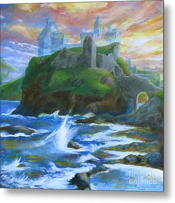 Dunscaith Castle - Shadows Of The Past Metal Print