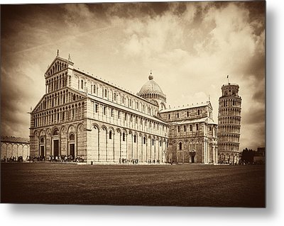 Metal Print featuring the photograph Duomo And Tower by Hugh Smith