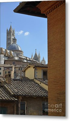 Duomo Cathedral And Red Tiled Roofs Metal Print by Sami Sarkis