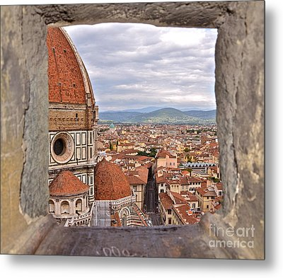 Duomo From Campanile Tower Metal Print