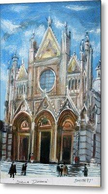 Duomo Sienna Metal Print by Tom Smith