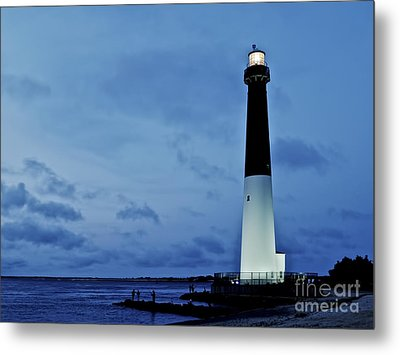 Dusk At Barnegat Lighthouse Metal Print by Mark Miller
