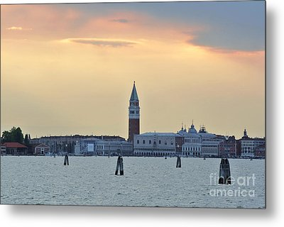 Dusk At St. Mark's Square Metal Print by Sarah Christian
