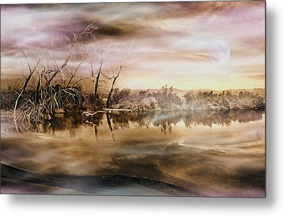 Dusk At The Pond Metal Print