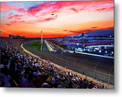 Dusk At The Racetrack Metal Print