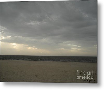 Dusk Beach Walk  Metal Print by Joseph Baril