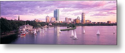 Dusk Boston Ma Metal Print by Panoramic Images