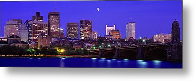 Dusk Charles River Boston Ma Usa Metal Print by Panoramic Images