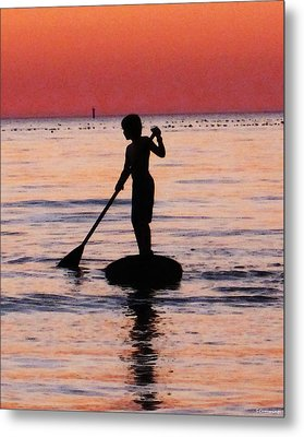 Dusk Float - Sunset Art Metal Print
