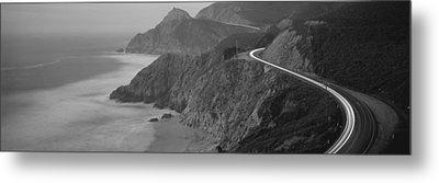 Dusk Highway 1 Pacific Coast Ca Usa Metal Print