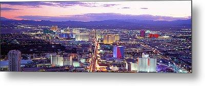 Dusk Las Vegas Nv Usa Metal Print