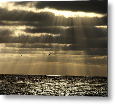 Dusk On Pacific Metal Print